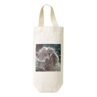 koala baby and mummy zazzle HEART wine bag