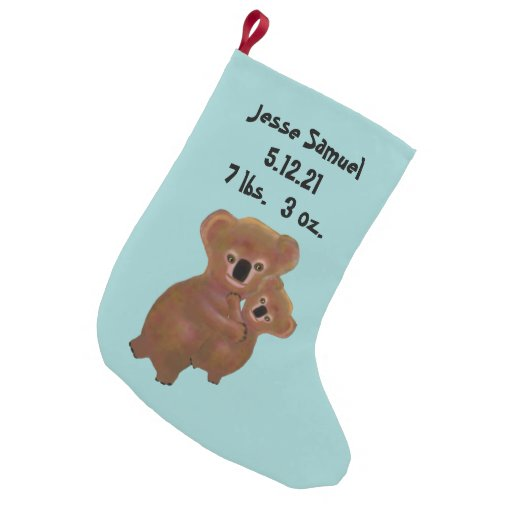 personalized baby s first christmas stocking let s personalize that