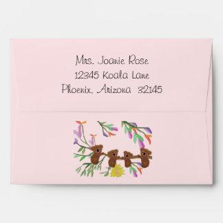 Koala Baby Shower Envelopes