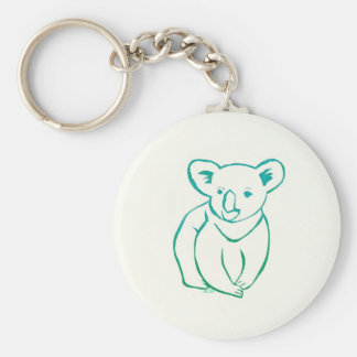Koala Basic Round Button Keychain