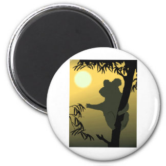 Koala Bear 2 Inch Round Magnet