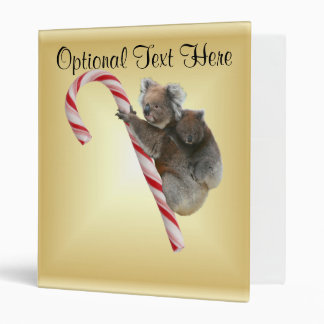 Koala Bear and Joey Cub Candy Cane Binder
