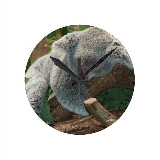 Koala Bear Aussi Safari Peace Love Nature Destiny Round Clock