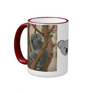 Koala Bear Aussi Safari Peace Love Nature Destiny Ringer Coffee Mug