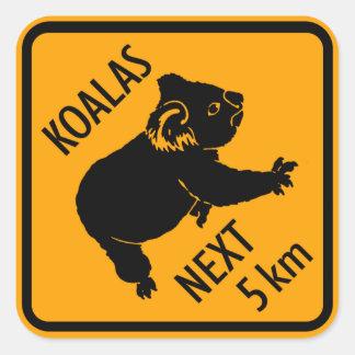 Koala Bear Australia Sign (pack of 6/20) Stickers