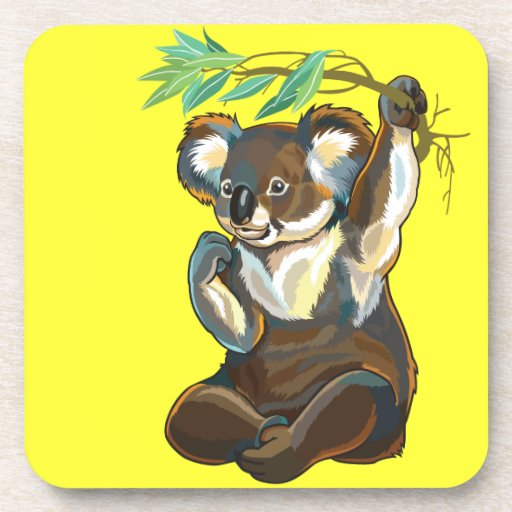 koala bear beverage coaster