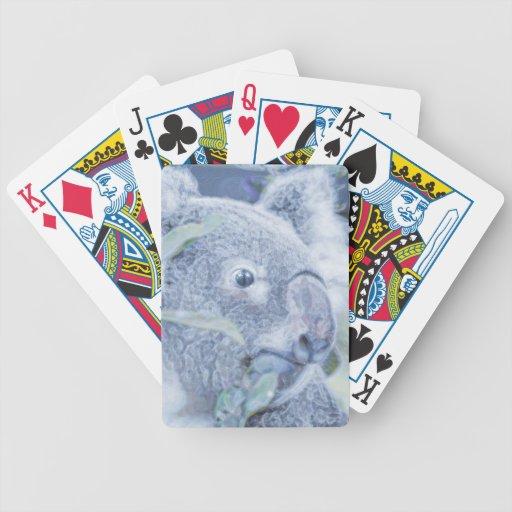 koala bear blue swirly painting.jpg card deck