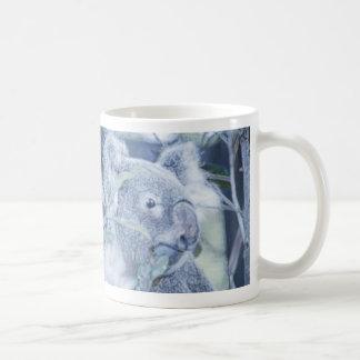 koala bear blue swirly painting jpg coffee mugs