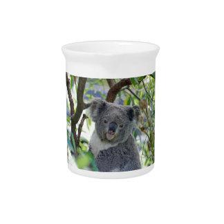 Koala Bear In A Tree Drink Pitcher