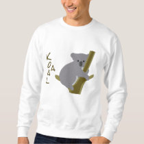 Koala Bear in a Tree ~ Embroidery Pattern Embroidered Sweatshirt