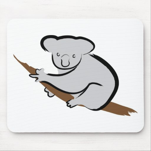 Koala bear in tree mouse pad