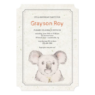 Koala Bear Invitation