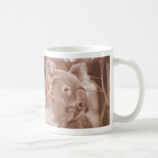 koala bear looking right sepia jpg mug