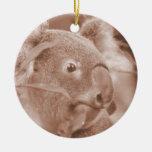 koala bear looking right sepia.jpg ornament