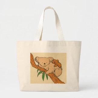 Koala Bear Mama & Baby Jumbo Tote Bag