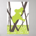 Koala Bear on Bamboo Posters