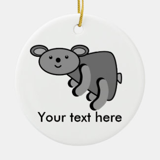 Koala bear Double-Sided ceramic round christmas ornament