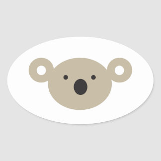 Koala Bear Oval Sticker