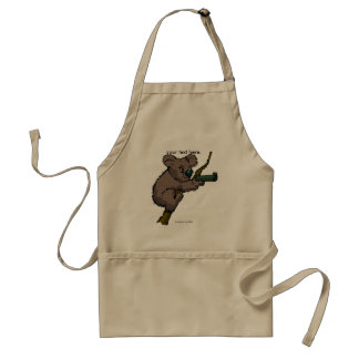 Koala Bear Sniper Adult Apron