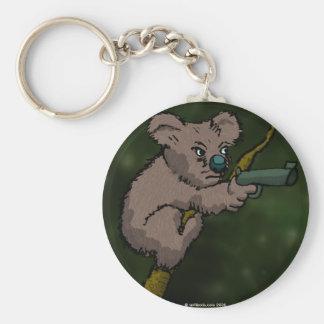 Koala Bear Sniper Basic Round Button Keychain