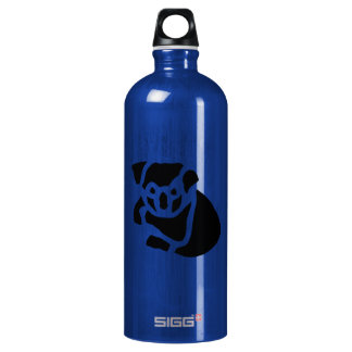Koala Bear Vintage Wood Engraving Aluminum Water Bottle