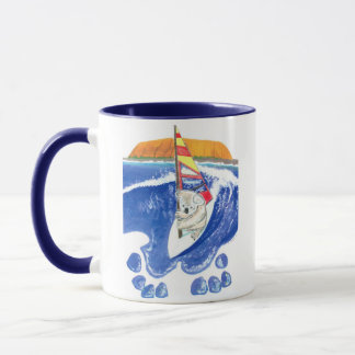 Koala Bear Windsurfing The Spirit of Australia Mug