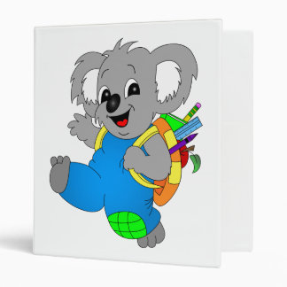 Koala Bear with backpack 3 Ring Binder