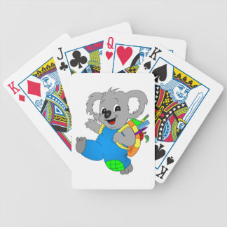 Koala Bear with backpack Bicycle Playing Cards