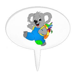 Koala Bear with backpack Cake Topper