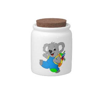 Koala Bear with backpack Candy Jars