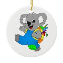 Koala Bear with backpack Ceramic Ornament