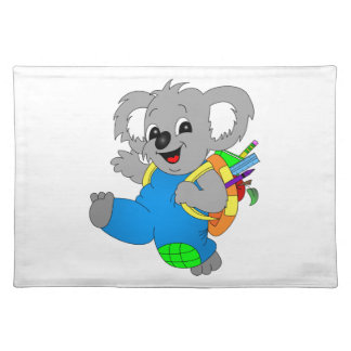 Koala Bear with backpack Cloth Placemat