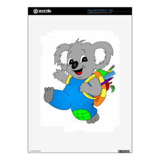 Koala Bear with backpack Decal For The iPad 2