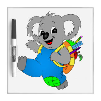 Koala Bear with backpack Dry-Erase Board