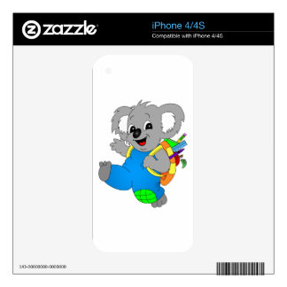 Koala Bear with backpack iPhone 4 Decal