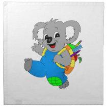 Koala Bear with backpack Napkin