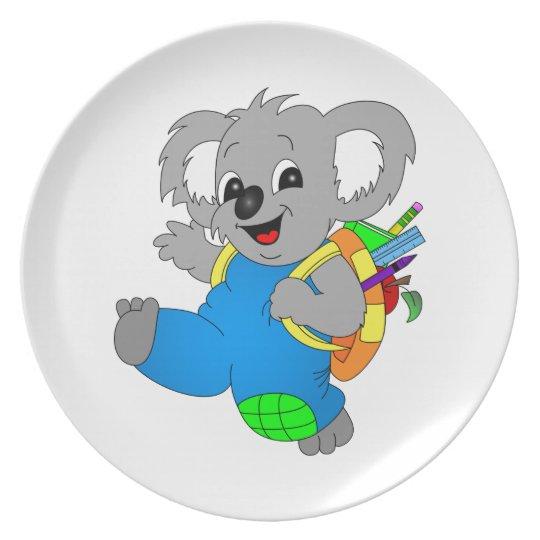 Koala Bear with backpack Plate
