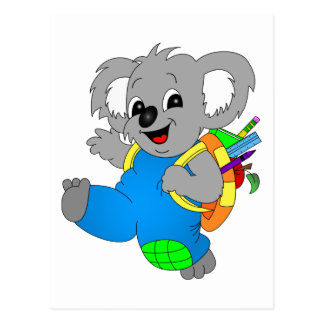 Koala Bear with backpack Postcard