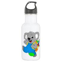 Koala Bear with backpack Stainless Steel Water Bottle