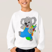 Koala Bear with backpack Sweatshirt