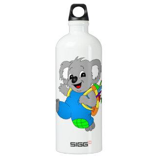 Koala Bear with backpack Water Bottle