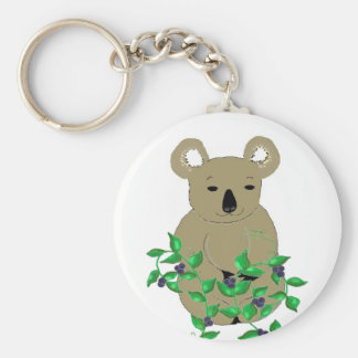 Koala Bear With Vines and Berries Keychain