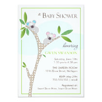 Koala Bears - Twins Baby Shower Invitations