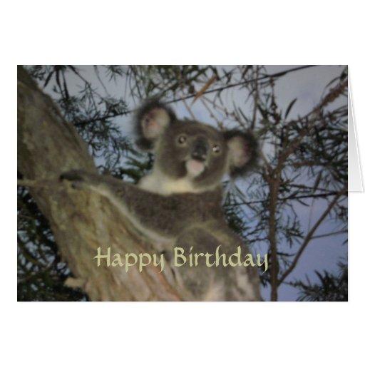 Koala Birthday Card