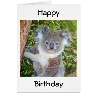 """KOALA BIRTHDAY GREETINGS"" CARD"