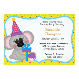 Koala Birthday Invitations
