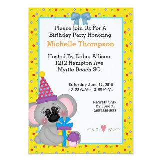 Koala Birthday Party Invitations