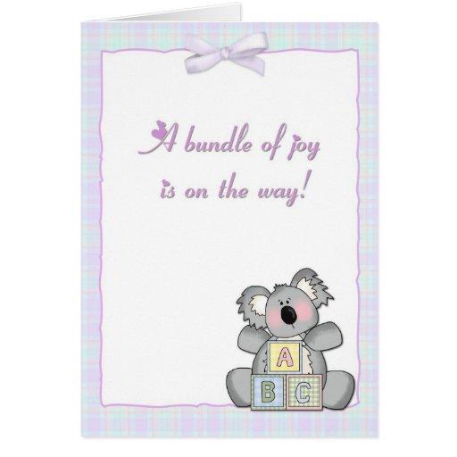 koala blocks baby shower invitation greeting cards zazzle