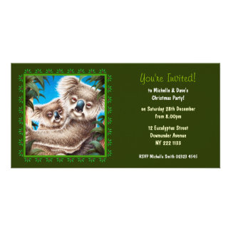 Koala Christmas Party Invitation Photo Card