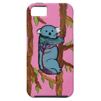Koala colorida en los buenos argumentos iPhone 5 fundas